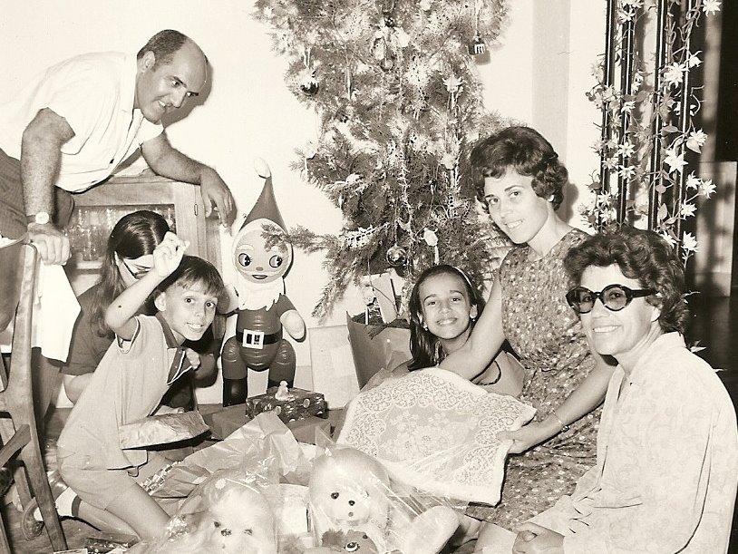 Natal no Dundo Casal Rebordao e filhos Ruca e Magui e Familia Videira