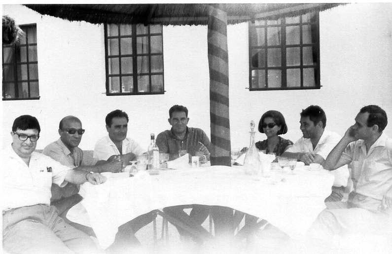 Pique-nique Cafunfo, Nov.1967 Luna de Carvalho, Valente, Dr. Henrique Marques, Dr. Santos David, Fernanda Marques, Engr. de Minas e Chefe de Mina