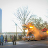 Catharsis on the Mall, with the Abraxas Dragon from Burning Man, November 12, 2016. Photo by Ben Droz