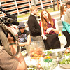 """Eat-In"" at the FDA for GMO Food Labeling.<br /> Activists,  organic farmers, and backyard gardeners brought homegrown vegetables to add to a GMO free ""Stone Soup"", picnic style, outside the Food and Drug Administration's Center for Food Safety. Monday, April 8, 2013.  Photo by Ben Droz."