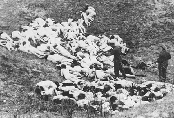 """Execution of women & children from Mizocz Ghetto <a href=""""https://en.wikipedia.org/wiki/Mizocz_Ghetto"""">https://en.wikipedia.org/wiki/Mizocz_Ghetto</a>"""