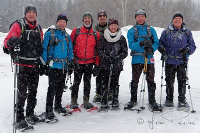 2018-02-07 Raquette Mont-Orignal groupe avancé (Jean Poirier)