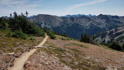 Grand Pass trail leading to Grand Lake