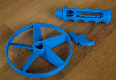 Toy Pull-string Helicopter - from Thingiverse
