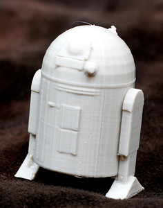 A model of R2D2 taken off thingiverse.com
