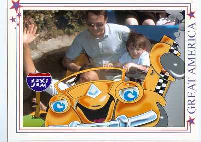 Lucas' first roller-coaster ride