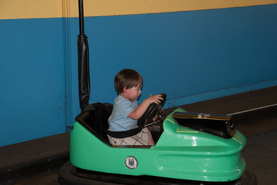 First time driving a bumper car... Where's the gas pedal?