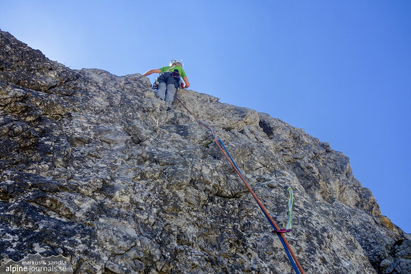 6th pitch starting vertical but soon getting easy.
