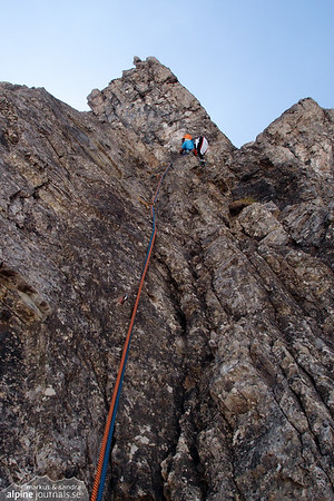6th pitch (VI-) at d'r Lugabeitl