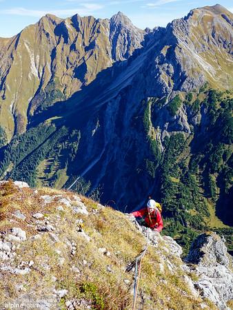 11th pitch, Grosser Widderstein Ostgrat (complete east ridge)