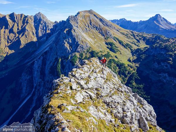 9th pitch with Geisshorn in the background, Grosser Widderstein Ostgrat (complete east ridge)