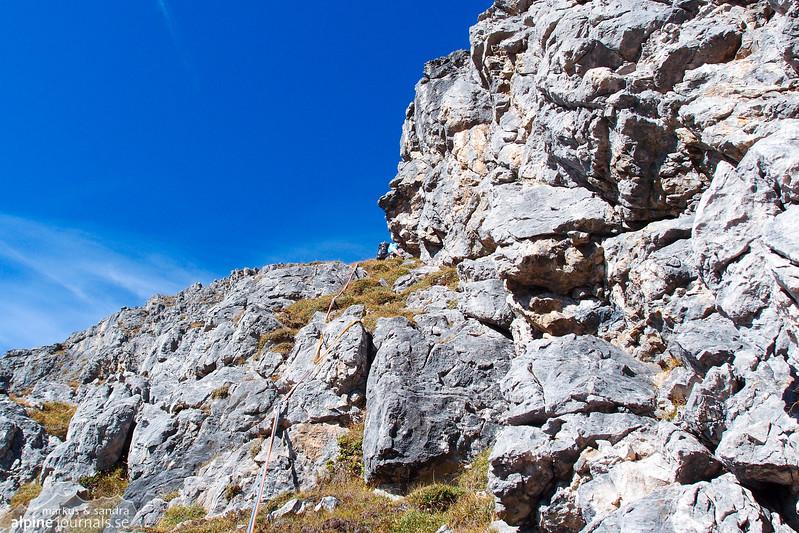 9th pitch, Grosser Widderstein Ostgrat (complete east ridge)
