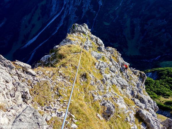 1st pitch, Grosser Widderstein Ostgrat (complete east ridge)