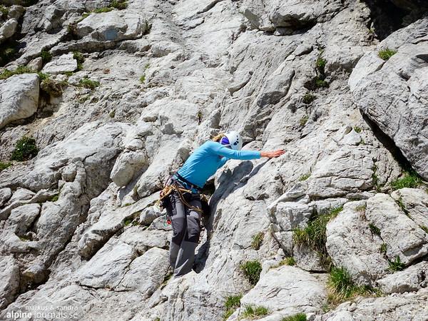 Descending from Oberstdorfer Hammerspitze