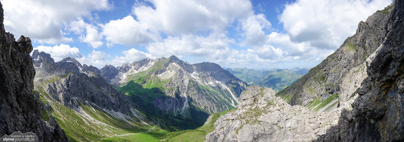 Great view of Wildental from Oberstdorfer Hammerspitze.