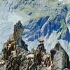 An alpine ibex climbs the ridge on Besso.