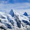 Wellenkuppe, Obergabelhorn amd Matterhorn.