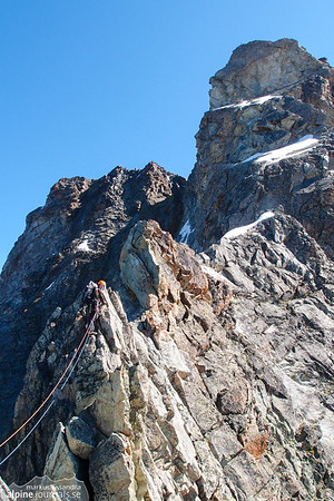 The final summit wall of Besso is getting closer.