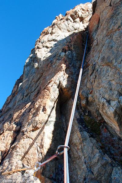 Grade III climbing.