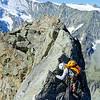 Down-climbing one more pinnacle...