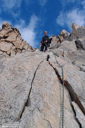 Climbing on Studerhorn