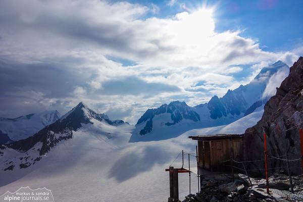 View from the wonderful little Oberaarjoch hut
