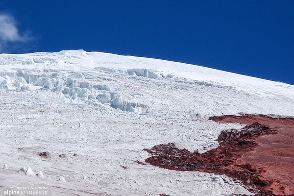 Beginning of the glacier on Cotopaxi