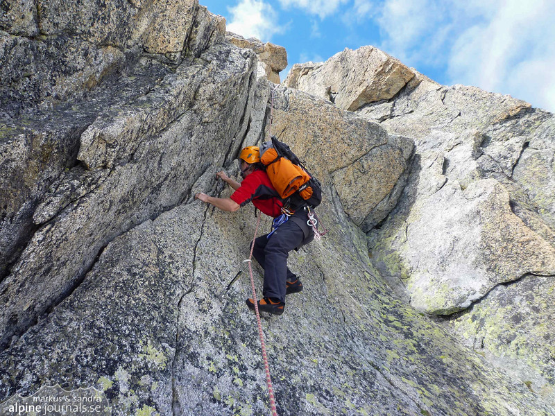 Excellent granite climbing on Galenstock