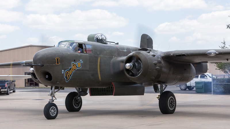"""Barbie III"" B-25H spinning up."