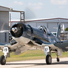 Corsair taxiing back after a flight.