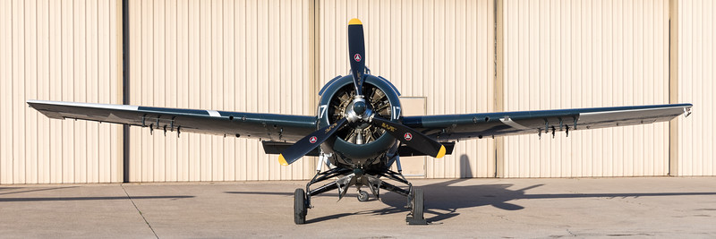 Wildcat in the morning, at Cavanaugh Flight Museum.