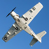 Skyraider does a pass overhead.