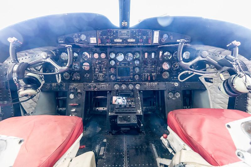 Caribou cockpit.