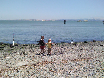 Brotherly beach discovery