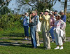 Description - Birdwatchers <b>Title - Saturday Morning Bird Walk</b> <i>- Charlotte Rasmussen</i>