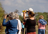<b>Birdwalk</b> Birders check horizon for Osprey <i>-  Melinda Moore</i>