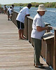 Description - Fishing on Pier <b>Title - Bridging the Gap</b> <i>- Kristine Parsons</i>