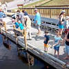 Description - Kids Fishing from Pier <b>Title - Kid's Day Fishing</b> <i>- Barry Mintzer</i>