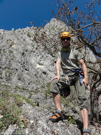 Stuhlfels. Time for our very first multipitch climb in a near alpine environment!!
