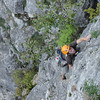 Eigerturm Westwand. First pitch of Eigerturm 5-. Next 2 pitches we joined ZigZag Weg 5 (more or less).