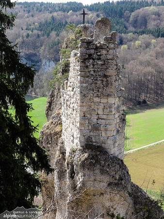 Aussichtsfels. Plenty of towers have been boult on stone pillars in this area.