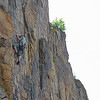 Sector L (Panico guide). Tissi, 6, a nice line. To the right over the flake is the route Cassin, 6-, a superb route!