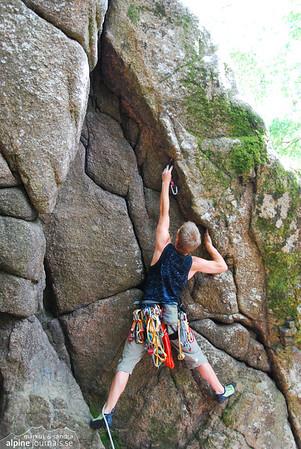 Climbing at Dewerstone