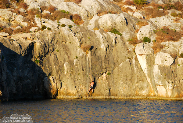 """Sea Level Traverse East"", a long boulder following the deep bay of Mgarr Ix-Xini."