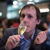 Simon enjoying some bubbles at Mamnoon