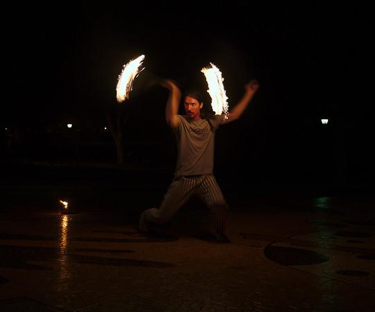 Firelit