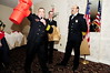 Fire Marshal Ed Johnson dispays the award