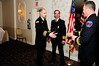 Fireman Nick Barber is awarded Firefighter of the Year by the Cloucester County Fire Chiefs Association. Photo by Ed MacDonald