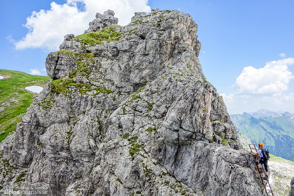 Finally, the last peak before Grosser Daumen at the Hindelanger ferrata.