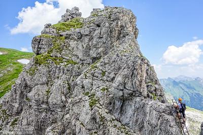 Finally, the last peak before Grosser Daumen at the Hindelanger ferrata.
